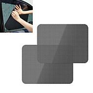 ziqiao 2pcs / lot auto zonnescherm dekt zwarte sticker auto statische zonnescherm sticker statisch zonnescherm sticker