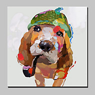 Handmade Modern Animal Dog Oil Painting On Canvas For Living Room Home Decor Wall Paintings Whit Frame Ready To Hang
