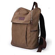Unisex-Kanvas-Hnědá / Černá-Batoh / Sportovní a pro volný čas / Taška na laptop / Školní taška / Cestovní taška-Sedlo
