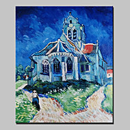 Lager Hand-painted Famous House Oil Painting On Canvas For Living Room Home Decor Wall Paintings Whit Frame
