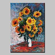 dipinto a mano classico astratta fiore fiori dipinto ad olio su tela con cornice pronta per essere appesa una 80x120cm pannello
