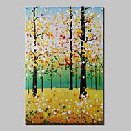 手描きの 抽象画 / 風景 / 抽象的な風景画Modern 1枚 キャンバス ハング塗装油絵 For ホームデコレーション