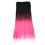 """neitsi® 110g 22 """"full hoofd 5clips Kanekalon synthetische haarstukken clip in / op rechte extensies t-roze #"""