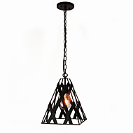40W Pendant Light ,  Vintage Painting Feature for Mini Style Metal Dining Room / Study Room/Office / Game Room / Garage
