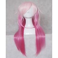 Perücken beliebten cosplay Parteiperücken Frau rosa lange gerade animierte synthetische Haarperücken