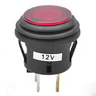 jtron 12v 20a bil trykknap låseomskifter med rød / blå LED-indikator
