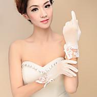 Polslengte Vingertoppen Handschoen Spandex Bruidshandschoenen Feest/uitgaanshandschoenen Lente Herfst Winter Pailletten