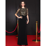 Formal Evening Dress Trumpet/Mermaid Scoop Floor-length Lace / Jersey