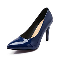 Women's Shoes Patent Leather Stiletto Heel Heels Heels Wedding / Party & Evening / Dress / Casual Black / Blue / Red