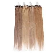 neitsi 100% des extensions de cheveux humains micro anneau boucles cheveux 16 pouces 25 brins