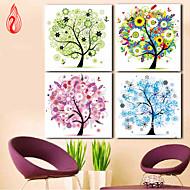 Diamonds Embroidery 30*30cm Spring Summer Autumn Winter Four Seasons Tree Round Diamond Cross Stitch Diamond Mosaic Set Of 1