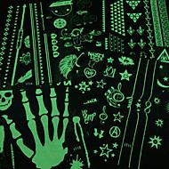 Airbrush Dövme Şablonları-Genç-Yeşil-PVC-1-Adet24*16*0.3