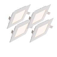 12W Panel 60pcs SMD 2835 1000-1100lm lm Teplá bílá / Chladná bílá / Přirozená bílá Stmívací / Ozdobné AC 85-265 V 1 ks
