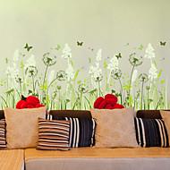 Wall Stickers Wall Decals, Beautiful Dandelion Butterfly PVC Wall Sticker