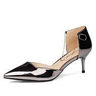 Calçados Femininos-Saltos-Saltos-Salto Agulha-Vermelho / Prateado / Champagne-Courino-Social / Casual / Festas & Noite