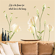 Botanical / Romance / Still Life / Fashion / Florals / Landscape / Fantasy Wall Stickers Plane Wall Stickers Decorative Wall Stickers,PVC