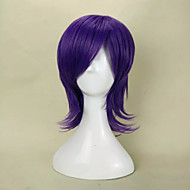 Capless Fashion Purple Short Straight Synthetic Hair Wig for  Party Wig and Daily Life