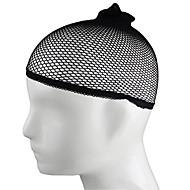 1個の弾性伸縮性弾性網タイツのかつらキャップの髪ネットスヌードは、かつら用ネット織りメッシュ