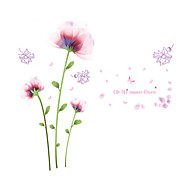 Wall Stickers Wall Decals Style Blooming Flowers PVC Wall Stickers