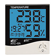 Humidity Mete LCD Digital HTC-8 Temperature Instruments Thermometer Hygrometer Temperature Humidity Meter Clock