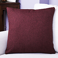 Pure Color Linen Cushion Cover-Coffee