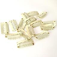 10pcs clipes de forma u preto ou loiro para extensões de cabelo e perucas ou uso DIY