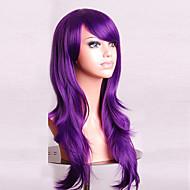 70 cm Long Curly Purple Hair Air Volume High Temperature Silk Wig