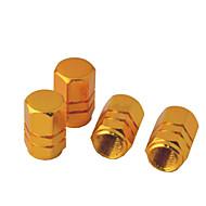 4 pièces hexagone aluminium bouchons de valve de pneu en alliage pour véhicule automobile