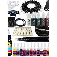 solong tetoválás rotációs tetováló gép&tartós smink toll 20 tű patron festékkészletet tápegység pedál ek101-1