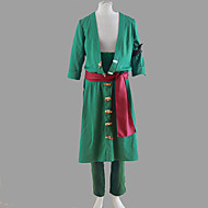One Piece Roronoa Zoro Green Polyester Cosplay Costume