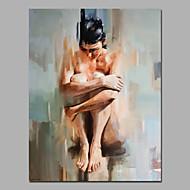 Hånd-malede Abstrakt / Mennesker / NøgenModerne / Europæisk Stil Et Panel Canvas Hang-Painted Oliemaleri For Hjem Dekoration