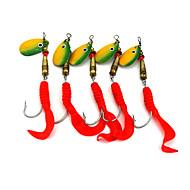 Hengjia 10pcs Spoon Metal Fishing Lures 105mm 7.3g Spinner Baits Random Colors