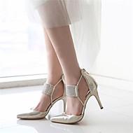 נעלי נשים-סנדלים / בלרינה\עקבים-עור / סינטתי / נצנצים-עקבים / שפיץ-כסוף / זהב-חתונה / משרד ועבודה / שמלה / מסיבה וערב-עקב סטילטו