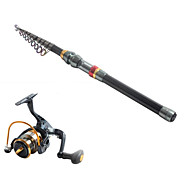 3.6 Carbon Sea Fishing Medium Fishing Rod & Reel Combos Fishing Reel  YB2000 Spinning Fishing Reels