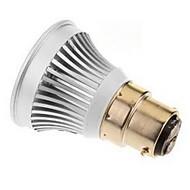 3W E14 / GU5.3(MR16) / B22 / E26/E27 LED Spotlight MR16 1 COB 270-300 lm Warm White / Cool White DC 12 V