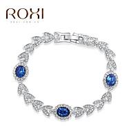 18k guld / sølv krystal armbånd armbånd smykker til dame