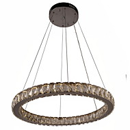 Crystal LED Chandelier Lights Lighting Modern Single Rings D50CM K9 Large Crystal Indoor Ceiling Light Fixtures
