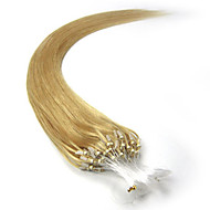μικρο μαλλιά επεκτάσεις βρόχο Βραζιλίας μαλλιά ίσια 100s 16-26inch ανθρώπινης τρίχας επέκταση μικρο δαχτυλίδια τα μαλλιά