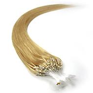 mikro hurok haj kiterjesztések brazil haj egyenes 100s 16-26inch emberi haj mikro gyűrűk póthaj