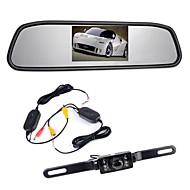 """4.3 """"TFT retrovisor monitor LCD carro sem fios 170 ° de reposição câmera reversa visão conjunto noite"""