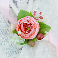 Wedding Flowers Hand-tied Wrist Corsages Wedding Party/ Evening Satin