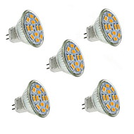 5W GU4(MR11) LED-spotlampen MR11 12 SMD 5730 560 lm Warm wit Decoratief DC 12 V 5 stuks