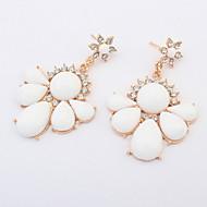 New American Fashion Simple Flower Pierced Drop Earrings Women Accessories