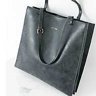 GPF PU Solid Satchel Shoulder Bag Wristlet Tote Laptop Bag