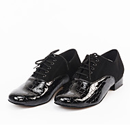 Sapatos de Dança(Preto) -Masculino-Personalizável-Latina / Moderna