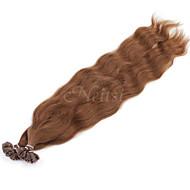 """Neitsi 20 """"1 g / s Keratinschmelzverfahrens u Nagelspitze natürliche Welle 100% Echthaar Haarverlängerungen 30 #"""