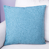Pure Color Linen Cushion Cover-Blue
