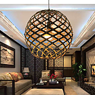12W Retro LED Others Wood/Bamboo Pendant Lights Living Room / Bedroom / Dining Room / Study Room/Office / Hallway