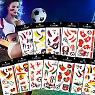 5pcs Coupe d'Europe de 2016 fans de football drapeau tatoo coloré de tatouage corps visage art femmes hommes 12 pays choisissent euro 2016