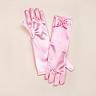 Opera Length Fingertips Glove Satin Flower Girl Gloves Spring / Summer / Fall / Winter Bow